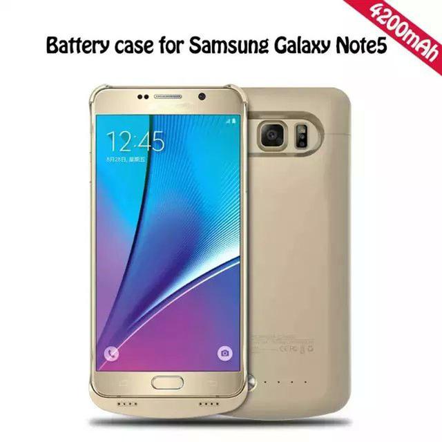 Mais novo 4200 mah banco de potência para samsung galaxy note5 note 5 n920a n9200 4200 mah recarregável externa de backup caso carregador de bateria