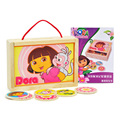 Dora Board Game For Children Find The Same Card Easy Play Education Puzzle Game With Wooden Box Free Shipping