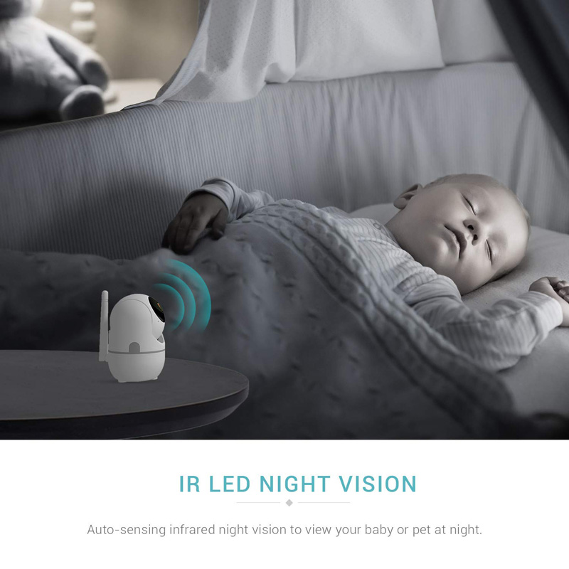 Wireless IP Baby Monitor With Night Vision And Auto Tracking check on your Baby At Home 2