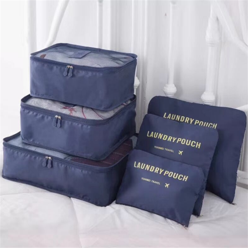 6PCS/Set High Quality Oxford Cloth Travel Mesh Bag In Bag Luggage Organizer Packing Cube Organiser for Clothing6PCS/Set High Quality Oxford Cloth Travel Mesh Bag In Bag Luggage Organizer Packing Cube Organiser for Clothing