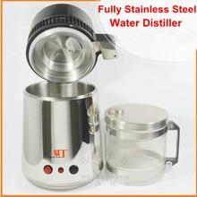 Destilador de agua Pura Filtro Purificador de Agua de 220 V 750 W Máquina Destilador de Agua de Acero Inoxidable para el Hogar Oficina de Laboratorio Del Hospital HA148