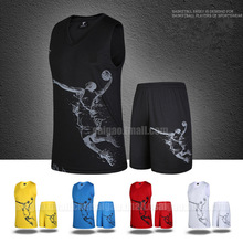 2016 basketball clothes set male basketball jersey child basketball clothing adult paragraph