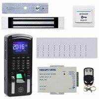 DIYSECUR TCP/IP usb устройство для считывания отпечатков пальцев считыватель ID карт пароль клавиатура система контроля доступа двери + блок питания
