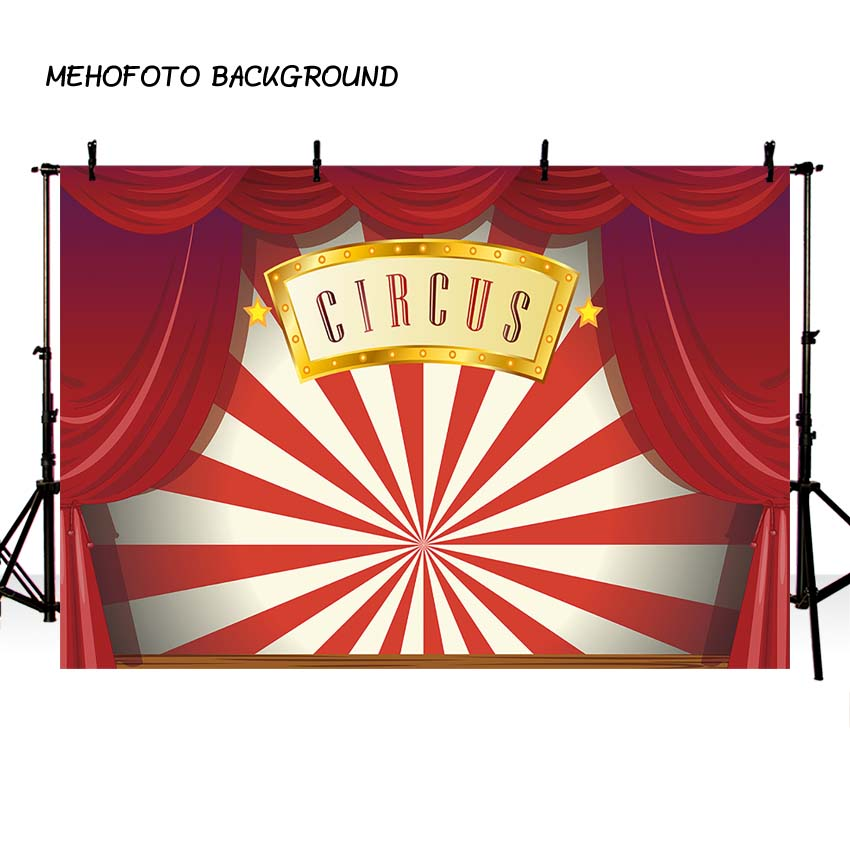 Circus Backdrop Red Curtains Carnival Birthday Party Banner Photography Baby Shower Decor Photo Studio Backgrounds Photobooth red carpet entrance stanchions ropes red light curtain backgrounds vinyl cloth computer print wall photo backdrop