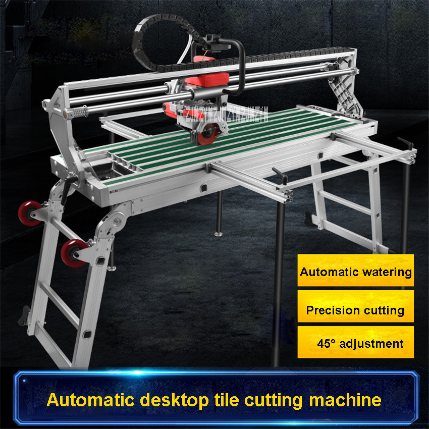 Electric Multi-function Fully Automatic Desktop Tile Cutting Machine 45 Degree Chamfering Machine 220V 2300W 1000MM 13000r/min