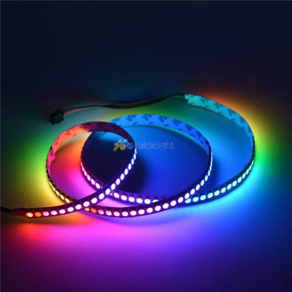 1M/5M WS2813 LED StripDual-signal wires Addressable Smart led pixel strip 30/60/144 leds/m DC 5VIP20/IP65/IP67 Black White PCB addressable 3d smart pixel ball dc24v