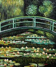 White Water Lilies by Claude Monet Handpainted