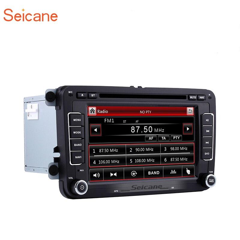 Seicane 2Din 7 Voiture Stéréo GPS Lecteur Multimédia Pour VW Volkswagen Golf T5 Jetta V ab Tiguan Multivan EOS passat Sagita BORA