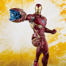 Toys Iron Man SHF Figuarts Anime Figure Infinity War Iron Man Mark50 PVC Collectible Action Figure Model Doll Gift 16cm все цены