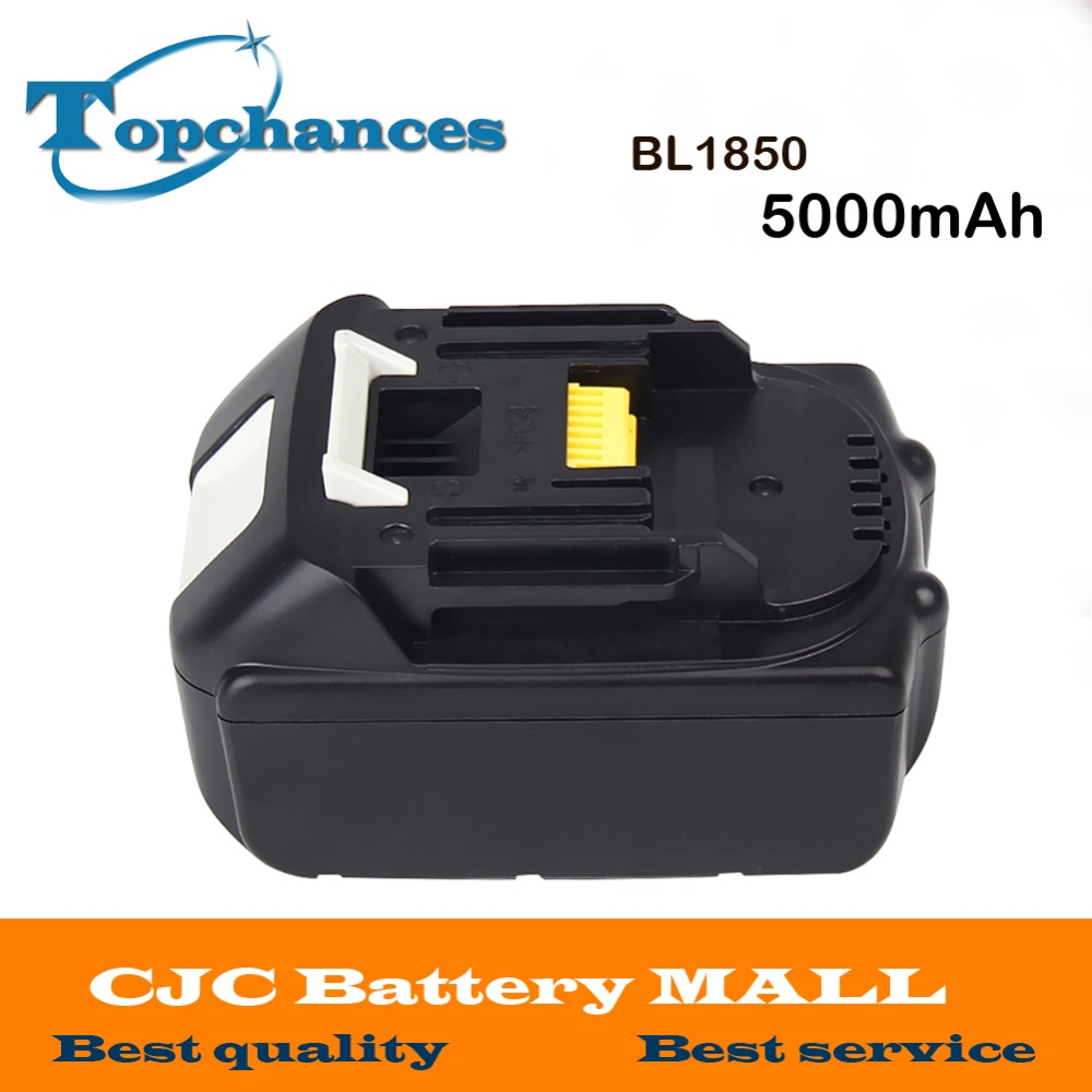 High Quality High Capacity 5000mAh 18V Li-ion Replacement Battery for Makita BL1850 BL1830 BL1845 BL1840 LXT 5000mah rechargeable lithium ion replacement power tool battery packs for makita 18v bl1830 bl1840 bl1850 lxt400 194205 3 p25