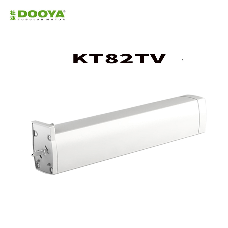 DOOYA Sunflower DC Motor KT82TV 110-240V  RS485 Dry Contact Silent Motorized Curtain Track, Smart Home Motorized Curtain,