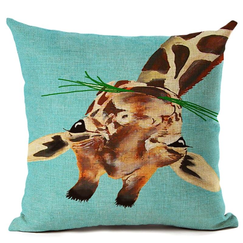 Amerikan Dizayn Kətan Yastıq Yastığı Yastıq Rəngarəng Züraf - Ev tekstil - Fotoqrafiya 6
