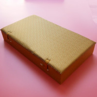 Cotton Filled Large 10 slot Watch Box Wood 10 grid Silk Brocade Box for Crafts Jade Stones Jewelry Storage Case Gift