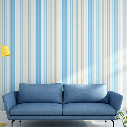 Mediterranean stripe non-woven fabrics wallpaper  bedroom living room TV backdrop wallpaper 0.53m*10m