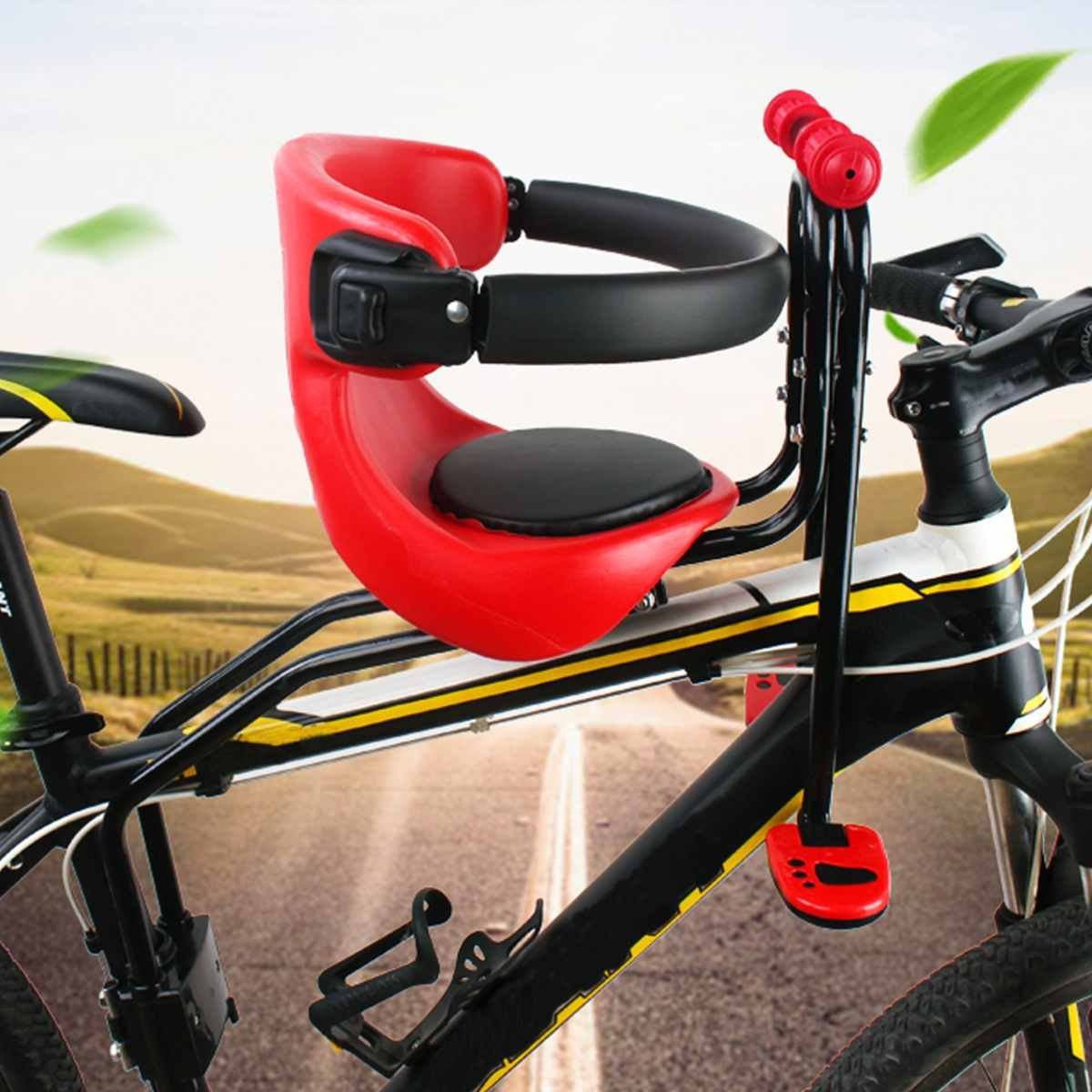 Kid Front Bike Seat Child Bicycle Safety Chair Baby Carrier Saddle Cushion Mount
