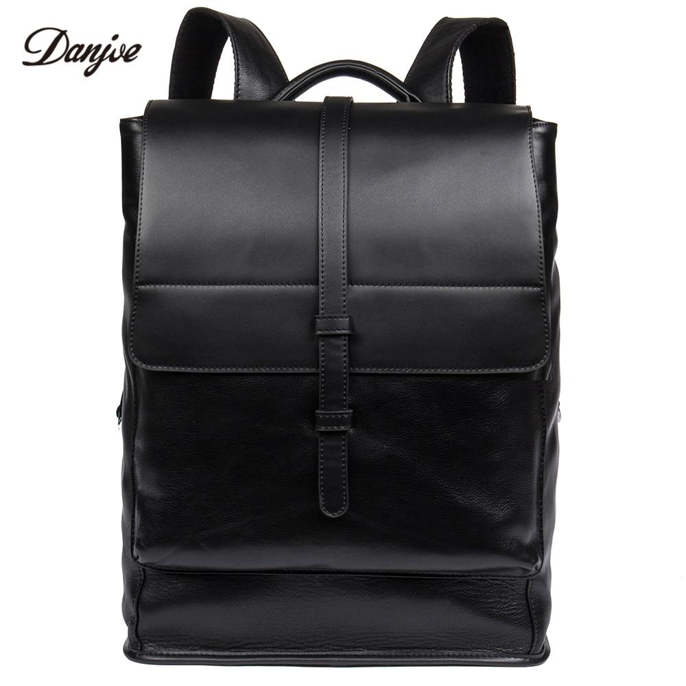 DANJUE натуральная кожа Для мужчин сумка Ежедневно Для мужчин рюкзак большой Ёмкость дорожные сумки мужской натуральная кожа школьная сумка Б...