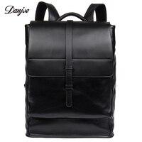 DANJUE натуральная кожа Для мужчин сумка Ежедневно Для мужчин рюкзак большой Ёмкость дорожные сумки мужской натуральная кожа школьная сумка Б