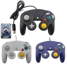 Para n G C gamepad um botão com fio controlador de jogo com 8 mb cartão de memória para game cube para G C para w i i console