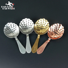 Shell Design Vintage Stainless Steel Julep Cocktail Strainer Copper Plated Gold Bar New Ice Tool