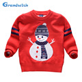 Grandwish Santa Claus Sweaters for Children Girls Christmas Sweaters Boys New Year's Top Children Snowman Clothing 3T-10T, SC684