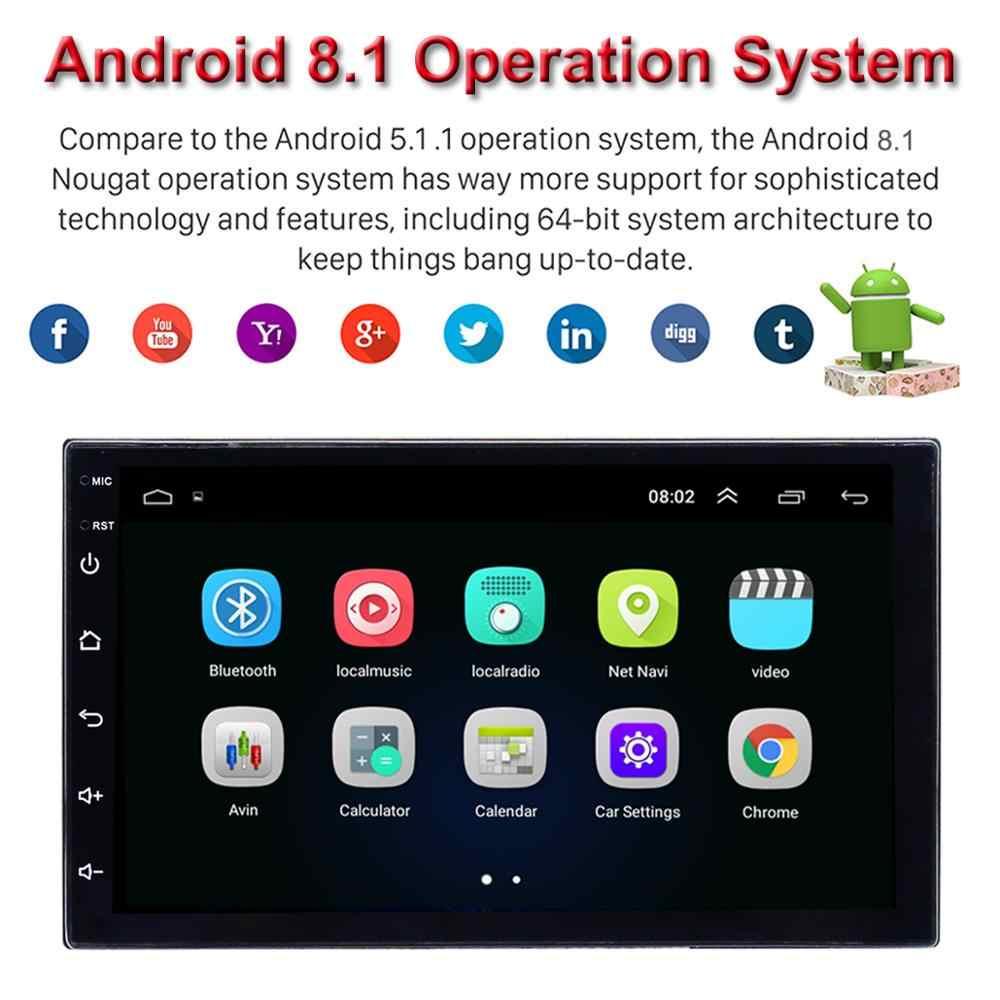"2DIN 車 DVD プレーヤー 7 ""アンドロイド 8.1 カーラジオステレオで OBD2 WIFI/3 グラム/4 グラム BT GPS ナビゲーション車のマルチメディアプレーヤーオーディオビデオ"