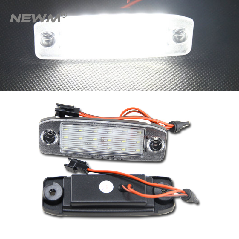 Car LED Lights 2x Error Free White LED License Plate Light Lamp for KIA Sportage 11-15 direct fit for kia sportage 11 15 led number license plate light lamps 18 smd high quality canbus no error car lights lamp
