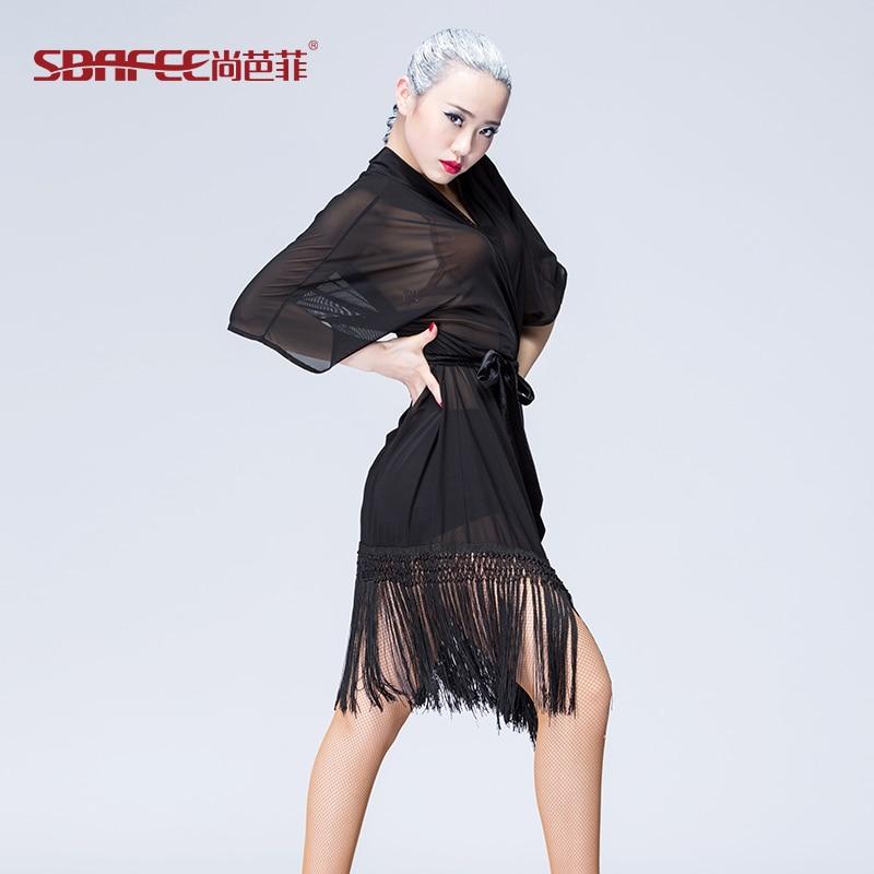 ≧Latino danza adulto moda Otoño ropa borlas vestido para niña - a715 99a1f356736d