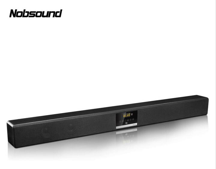 Nobsound SA-705 Wood 60W Wireless Bluetooth Column Sound Bar DSP Surround Sound 5.1 TV base Subwoofer Speakers Coaxial Cables