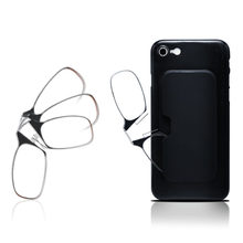 Ultra Light Legless Clip Nose Reading Glasses Men And Women Can Stick Mobile Phone Portable Reading Glasses For The Elderly(China)