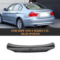 Black FRP Auto Rear Tail Trunk Lid Boot Spoiler Lip Wing for BMW E90 Sedan 4 Door 05 08 M3 320i 323i 325i 330i 335i CSL Style