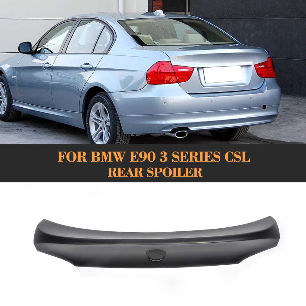 FRP Rear Spoiler Wing Auto Racing Car Styling Tail Trunk Lid Boot Lip Wing Spoiler for BMW E90 CSL carbon fiber car rear bumper extension lip spoiler diffuser for bmw x6 e71 e72 2008 2014 xdrive 35i 50i black frp