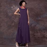 ZANZEA Summer Dress 2016 Sexy Women Sleeveless Cotton Linen Long Maxi Dresses Casual Loose Plus Size