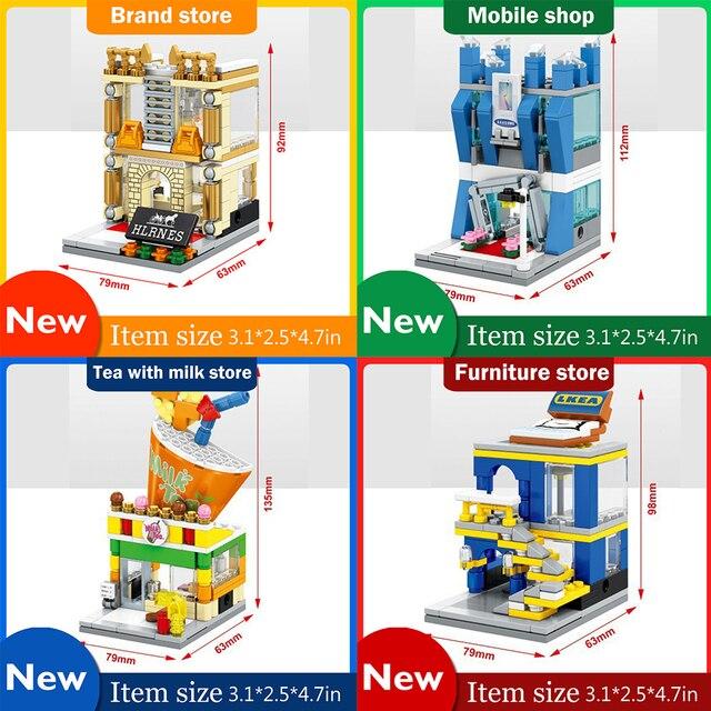 compatible furniture. Mini Street View Building Blocks 4PCS/Set Furniture Shop Compatible With Legoe City Ninjago Toys F