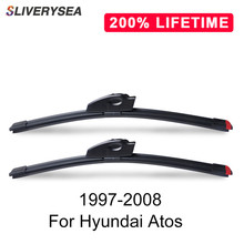 SLIVERYSEA Replace Wiper Blade For Hyundai Atos 1997-2008 Windshield Windscreen Natural Rubber Replacement