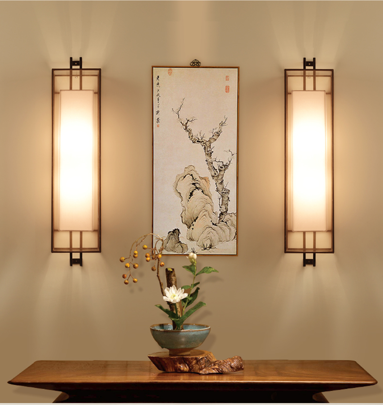 Chinese Style LED Wall Lamp 2 Lights Fabric Lampshade Fixtures For Home Bar Cafe Indoor Lighting Bedside Light Lamparas De Pared modern lamp trophy wall lamp wall lamp bed lighting bedside wall lamp