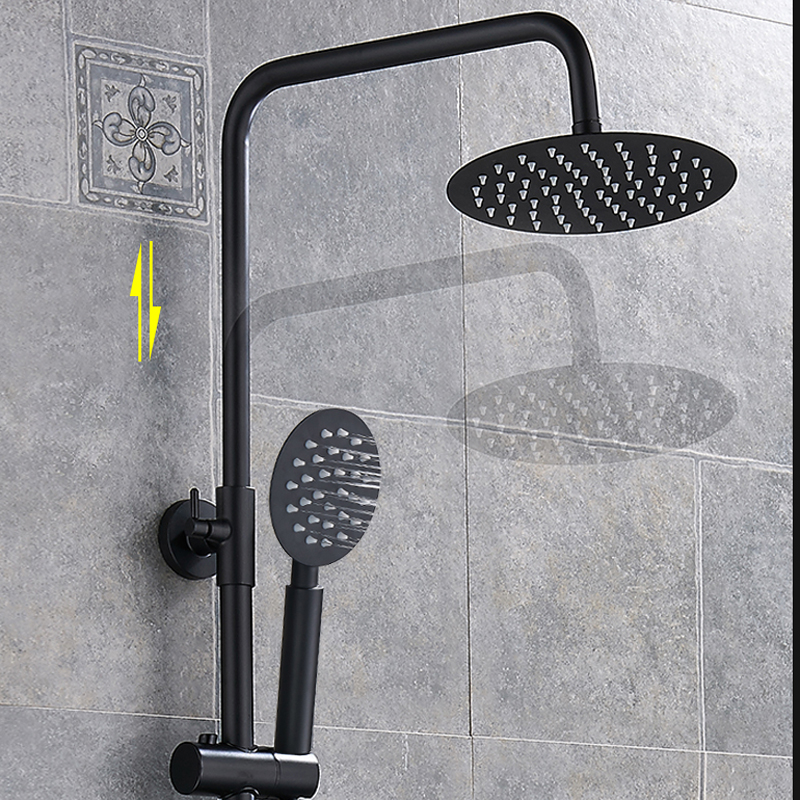 Shower Faucet with Shelf Shower System mischbattrie Shower Shower Fittings White