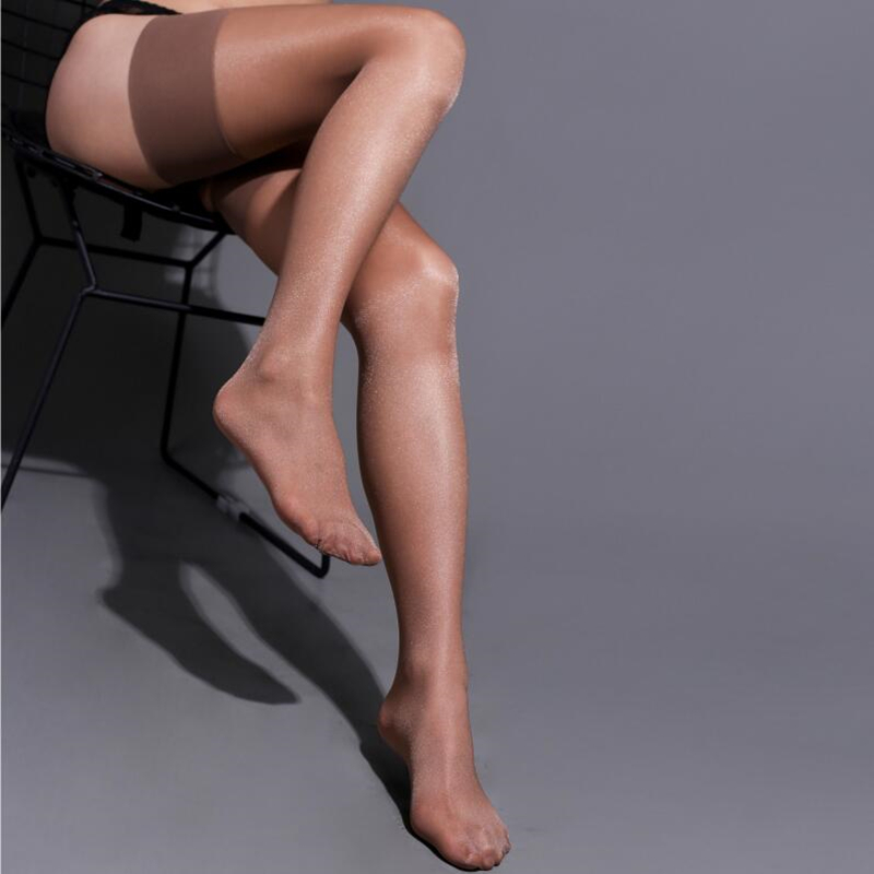 15D Thin Transparent Stockings Oil Shiny Thigh High Stockings Women Sexy Over Knee Nylon Pantyhose 8 Colors Long Hosiery