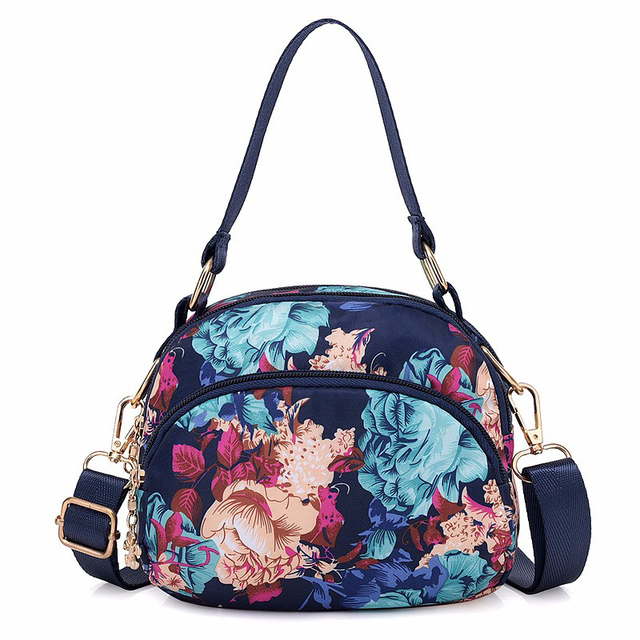 Fashion Ladies Mini Bag 11 Styles Flower Balloon Perfume Pattern Casual Shoulder Slung Hand Holding Waterproof Nylon Women Bags