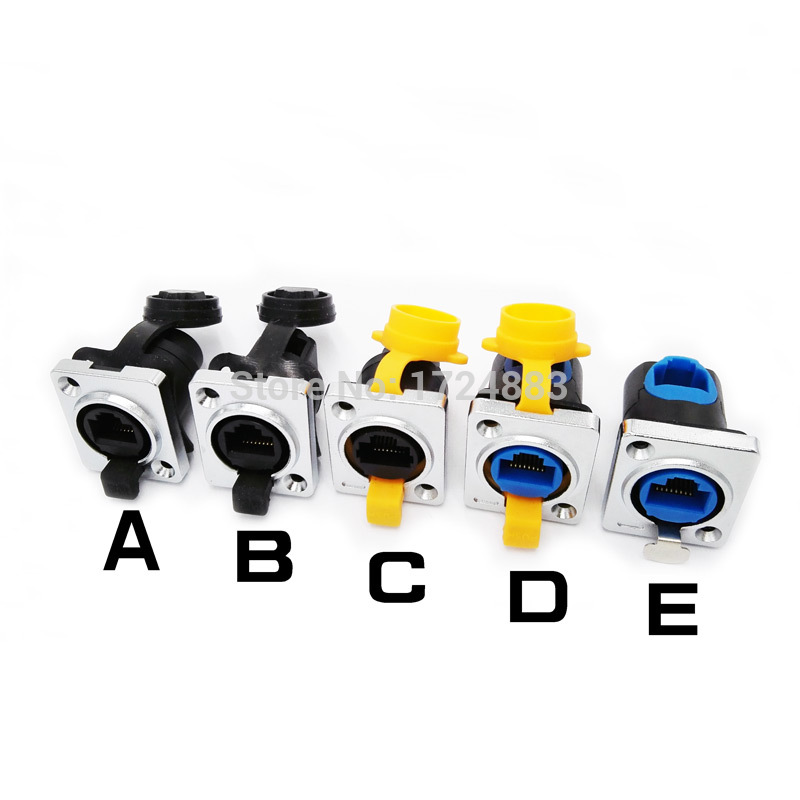 Rj45 waterproof connector panel mounting network interface rj45 connectors angle Ethernet plug IP65 [vk] 553602 1 50 pin champ latch plug screw connectors