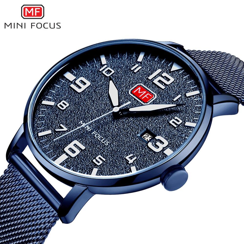 New M F Watches Top Brand Ultra-thin men's watch matte surface simple calendar steel belt Men's Quartz Popular Sports Watches