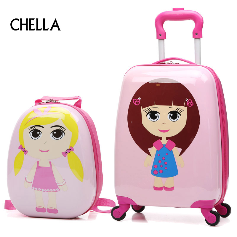 18 inch cartoon children abs proof schoolbag boarding suitcase luggage case princess car case. Black Bedroom Furniture Sets. Home Design Ideas