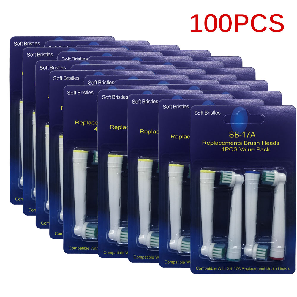 100pcs Replacement Brush Heads For Oral B Electric Toothbrush Fit Advance Power Vitality Precision Clean 3D