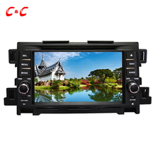Upgraded Capacitive Screen ! Car DVD Player GPS for Mazda CX-5 with Radio SWC BT Mirror Link+Free 8G Map Card