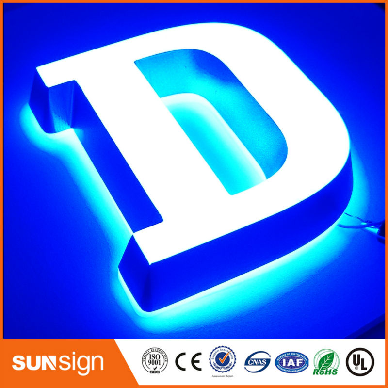 US $7 14 |custom small size led acrylic mini letters double side lighted  signs letters-in Electronic Signs from Electronic Components & Supplies on