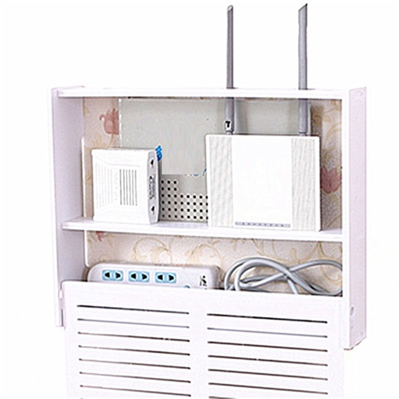 creative shielding router multifunctional collection living room TV set-top box storage cabinet rack hanger stacks socket cover