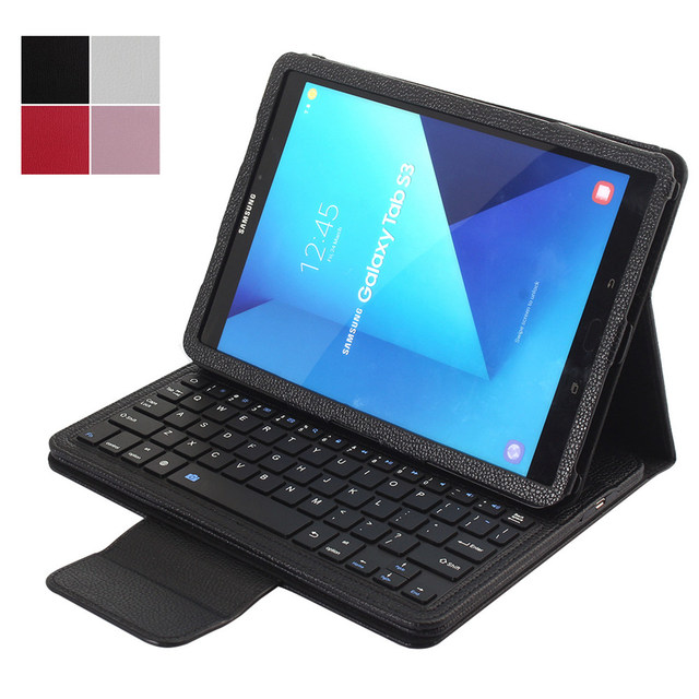 new product 62bfb 25416 US $29.06 |For Samsung Galaxy Tab S3 9.7 T820 T825 Folio Smart Magnetic PU  Leather Stand Case Cover+Detachable Wireless Bluetooth Keyboard-in Tablets  ...