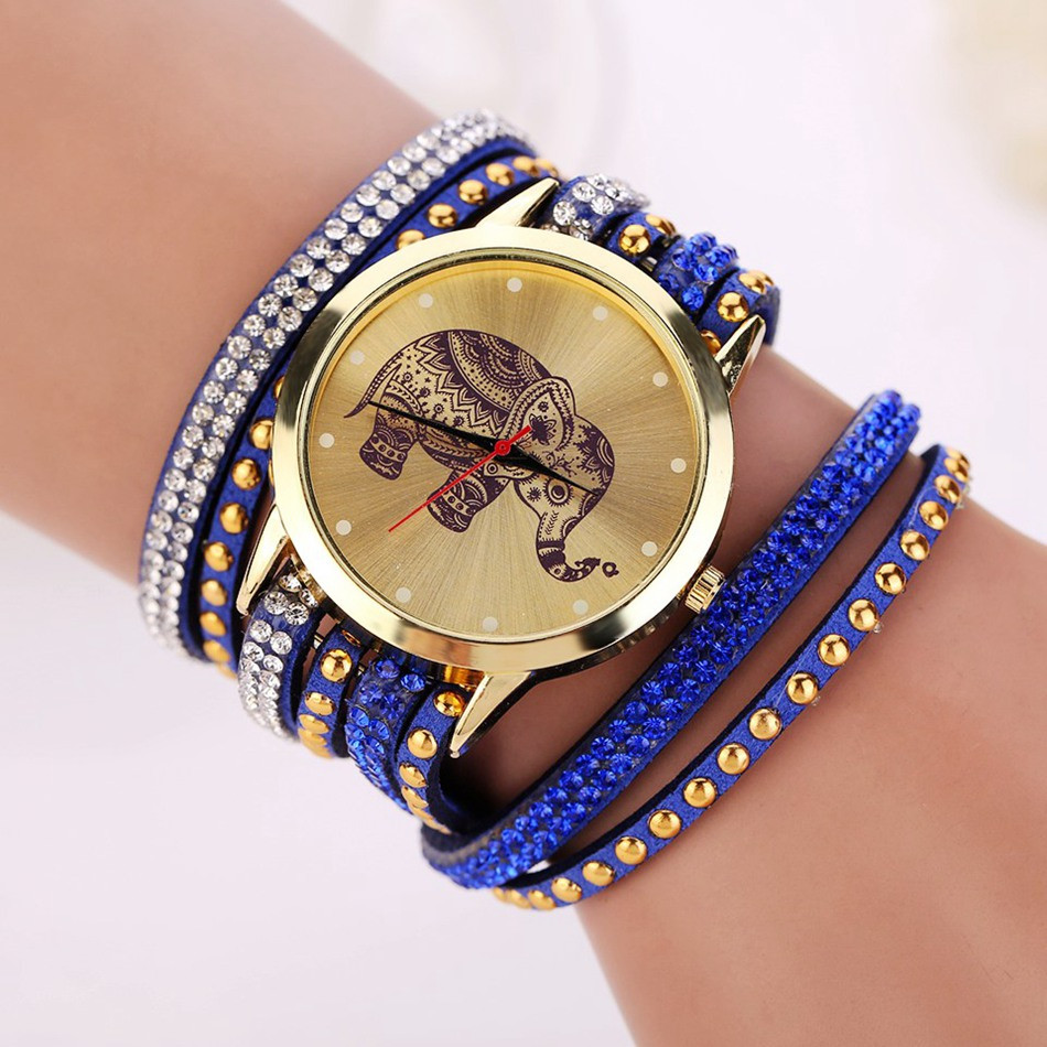 Elephant Pattern Watch Bracelet