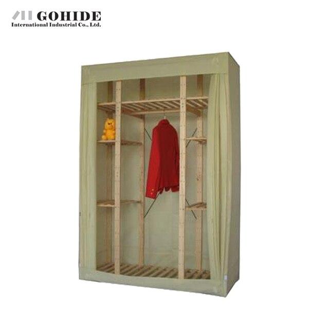 Gohide Сосновый Лес Главная 154 см Ткань Гардероб Твердой Древесины Шкаф Для Хранения Мебели Шкафы С Простой Шкафы Для Спальни