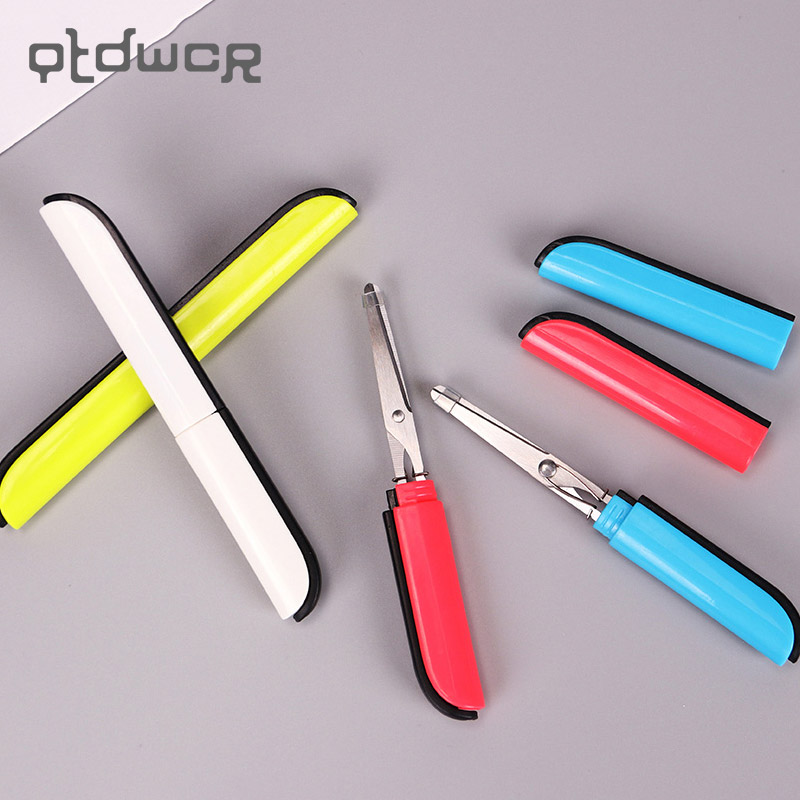 1PC Candy Creative Portable Safe Scissors Paper Cutting DIY Art Office School Supply Pen Modeling Scissor