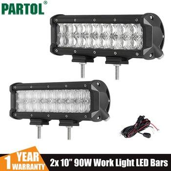 Partol 2x7 60 w 5d led light bar lampe de travail spot flood partol 2x10 90 w 5d led light bar lampe de travail spot flood faisceau voiture mozeypictures Images